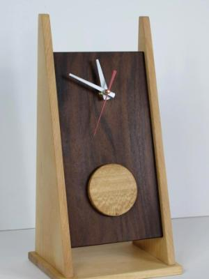 2 Legged Clock with Sycamore Disk