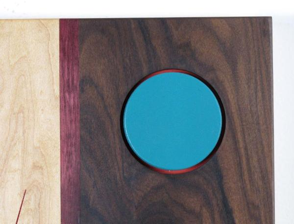 Turquoise Disk Set In Red