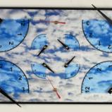 4 Corner Clock with Sky
