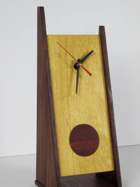 2 Legged Clock with Padouk Disk