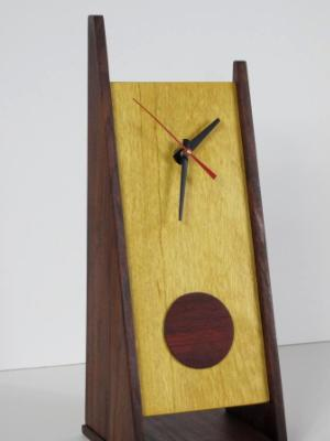 2 Legged Clock with Padouk Disk